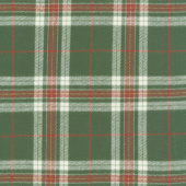 Primo Plaids - Lumber Jacks Plaid Green and Red Flannel Yardage