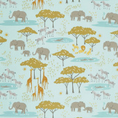 Safari Life - In the Native Aqua Yardage