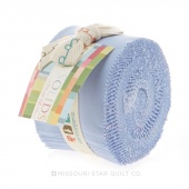 Bella Solids Baby Blue Junior Jelly Roll by Moda