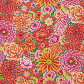 Kaffe Fassett Collective Fall 2018 - Night Enchanted Red Yardage