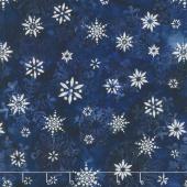 Artisan Batiks - Snowflakes 2 Small Snowflakes Astral Metallic Yardage
