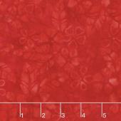 Tonga Batiks - Vivid Bloom Scarlet Yardage