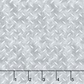 Construction Zone - Metal Flooring Gray Yardage