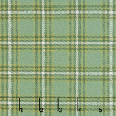 Primo Plaids - Lumber Jacks Tartan Light Green Flannel Yardage