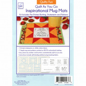 Quilty Fun Quilt As You Go Inspirational Mug Mats Kit