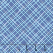 "Bee Backing and Borders - Plaid Blue 108"" Wide Backing"