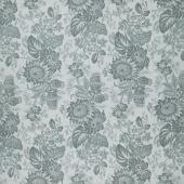 Concrete - Large Floral Grey Yardage