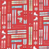 Winter Games - Skis Red Yardage