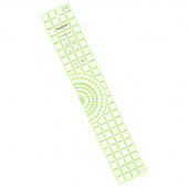 "Omnigrip 4"" x 24"" Protractor Ruler"