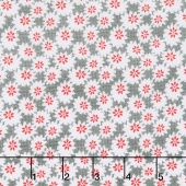Linen and Lawn - Daisy Gray Cotton Lawn Yardage