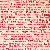 Hometown Girl Prints - Talk of the Town Cherry Yardage
