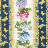 Hydrangea Dreams - Repeating Stripe Multi Yardage