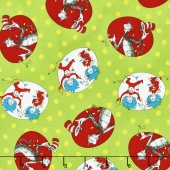 The Cat in the Hat Christmas - Cat Christmas Green Yardage