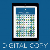Digital Download - Tranquil Triangles Pattern by MSQC