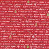 We Whisk You A Merry Christmas - Holiday Baking Phrases Red Yardage