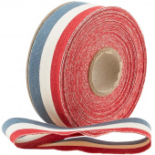 "Northport Twill Trim - 1 1/2"" Red/Ivory/Navy"