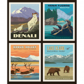National Parks - National Park Alaska 1 Pillow Panel