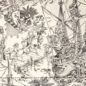Nicole's Prints - Skelewags Natual Yardage