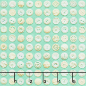 Flea Market Mix - Bakelite Buttons Patina Cream Yardage