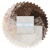 Chocolate and Creams Batiks Charm Pack