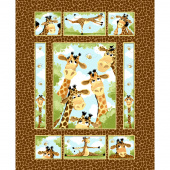 Zoe the Giraffe - Giraffe Brown Panel