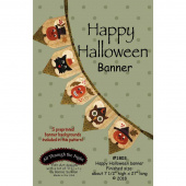 Happy Halloween Banner Pattern