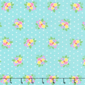 Good Day! - Flower Pop Turquoise Yardage