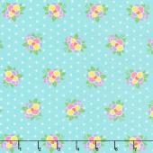 Good Day! - Flower Pop Turquoise Yardage
