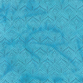 William's Garden Batiks - Feathers Harbor Blue Yardage