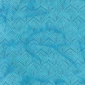 William's Garden Batiks - Feathers Harbor Blue Yardage