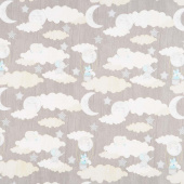 All Our Stars - Scenic Light Gray Yardage
