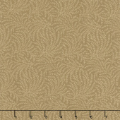 "108"" Quilt Back - Scrolling Vine Camel 108"" Wide Backing"
