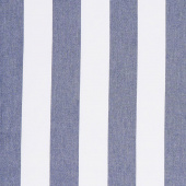Picnic Point Tea Toweling - Stripe Navy Yardage