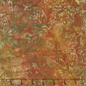 Artisan Batiks - Cornucopia 9 Small Leaves Rust Yardage