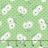Sugar Sack II - Daisy Grid Grass Yardage