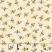 Bee Grateful - Buzz Honey Yellow Yardage