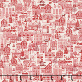 Scandi - Houses Red Yardage