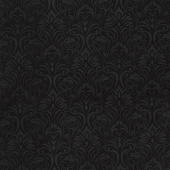 A Festival of Roses - Festive Damask Black Yardage