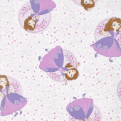 Sofia the First - Poses White Yardage