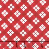 Cuppa Cocoa - Plaid Red Yardage