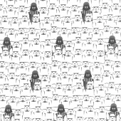 Star Wars - Storm Troopers and Vader Stacked Multi Yardage