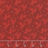 Rhapsody in Reds - Tonal Leaves Red Yardage