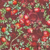 Illuminating the Season - Balaustine Crimson Digitally Printed Yardage