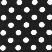 Black & White - Quarter Dot Black Yardage