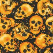 Wicked Hot - Tossed Skulls Yardage