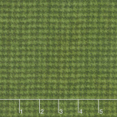 Woolies Flannel - Houndstooth Dark Green Yardage