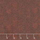 Woolies Flannel - Herringbone Red Yardage