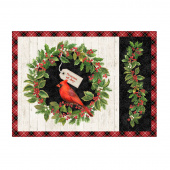 Cardinal Woods - Place Mat Cream Multi Digitally Printed Panel