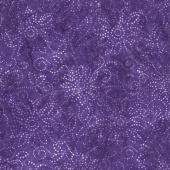 Kaleidoscope Floral Batiks - Medium Purple Yardage