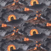 Haunted Night - Scenic Black Yardage